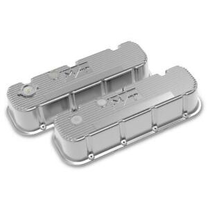 Holley 241 151 Tall M T Valve Covers Bbc Polished Finish