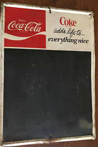 Vintage 1950's Coca Cola Sign/ Menu board
