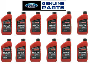 New Set Of 12 Quarts Automatic Transmission Fluids Mercon Lv Genuine For Ford