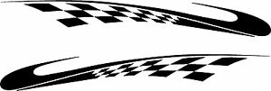 Tribal Decals Checkered Flag Vehicle Car Truck Vinyl Boat Graphics Stickers 72