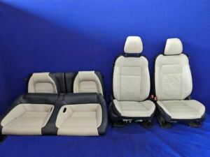 2015 2017 Ford Mustang Black Tan Beige Leather Coupe Front Rear Seats Oem