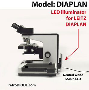 Led Illuminator Retrofit Kit With Dimmer Control For Older Leitz Microscopes