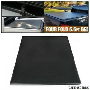 Lock Four Fold Tonneau Cover For 88 07 Chevy Gmc Std Black 66 Short Bed