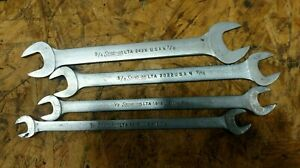 Snap On 4 Pc Low Torque Slimline Wrenches 7 16 1 2 1 2 9 16 5 8 11 16 3 4 7 8