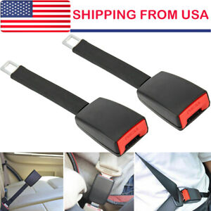 2pcs Universal Car Vehicle Safety Seat Belt Extender Seatbelt Extension Strap