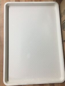 18 x26 Sheet Pan Display Tray White Texured clipper 6 case