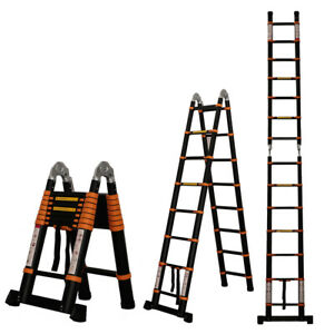 12 5ft 14 5ft 16 5ft Aluminum Multi purpose Telescopic Ladder Extension Foldable