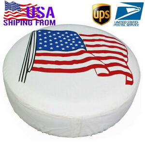 Spare Tire Cover 16 Flag Waterproof Protector For Jeep Wrangler Liberty Suv Rv