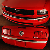 2005 2007 Mustang Foose Designs Chrome Front And Rear Bumperetes