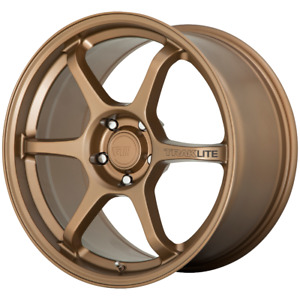 4 Wheels Motegi Traklite 3 Matte Bronze 18x9 5 Rims 5x100 45 Offset