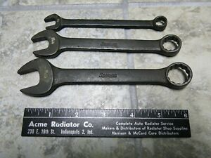 Snap On Tools Stubby Combination Wrench Goex120 Goex180 Goex220 Usa