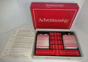 Vtg 1988 ADVERTEASING Board Game #800~Game Of Slogans Commercials by Cadaco $4.99