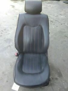 2004 2008 Maserati Quattroporte Front Left Seat Black Leather With Red Stitching