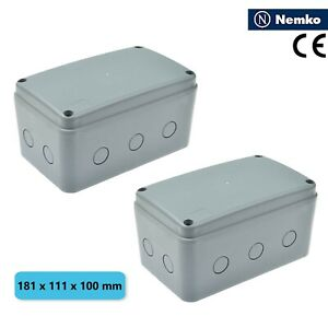 2 Pack Ip66 Waterproof Electrical Junction Box Cable Enclosure Project Case Abs
