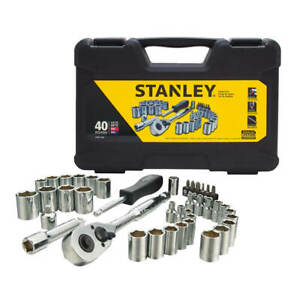 Stanley Stmt71648 1 4 In And 3 8 In Drive Mechanic Tool Set 40 piece