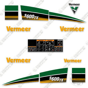 Vermeer S600tx Decal Kit s600 Tx Mini Skid Steer 7 Year Vinyl