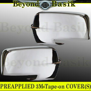 For 2013 2018 Dodge Ram 1500 2500 Chrome Mirror Covers W signal On Bottom Cutout