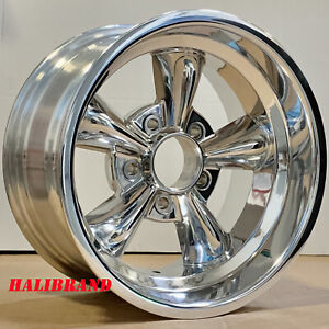 Halibrand 5 Spoke Aluminum Wheels Genuine 15 X8 5x4 5 Et 22 23 Set Of 2 Rims