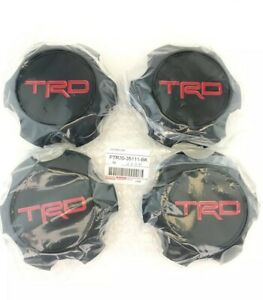 Toyota Trd Matte Black Center Cap Set Tacoma 4runner Fj Cruiser Ptr20 35111 bk