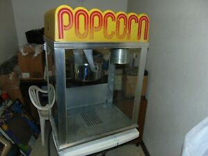 Nice Used Gold Medal Commercial Popcorn Machine Model 2001 Tested Working Fine