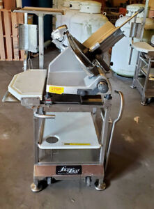 Hobart 2812 Manual Slicer with Sharpener And Deli Buddy Face To Face Cart