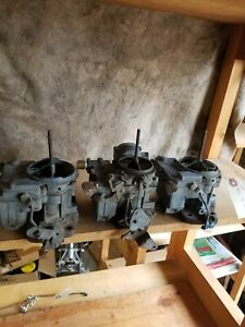 1964 1965 1966 Pontiac Tri power Rochester Carburetors 3x2 Tri Power With Studs