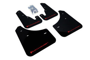 Rally Armor Ur Black Mud Flap With Red Logo For 2004 2009 Mazda3 Speed 3