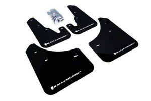 Rally Armor Ur Black Mud Flap With White Logo For 2004 2009 Mazda3 Speed 3