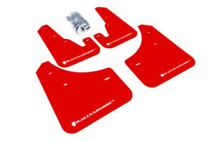 Rally Armor Ur Red Mud Flap With White Logo For 2004 2009 Mazda3 Speed 3