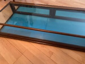 Vintage Display Tabletop Showcase Wood And Glass