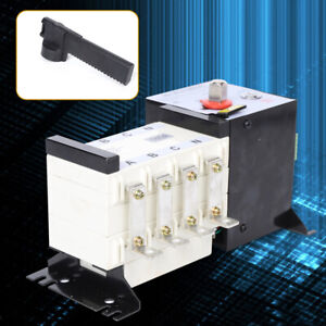 160a 4p Dual Power Isolation Type Flexible Automatic Transfer Switch Ats 4kv