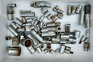 Sockets Various Lot 70 Pieces