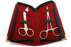 Bandage Kelly Forceps Surgical Instruments With Velvet Pouch