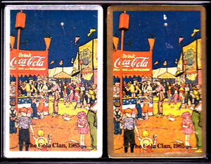 1985 Coca Cola Clan Playing Cards from Dallas , TX. Convention New in Case