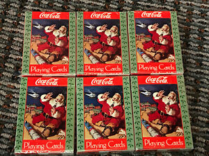 6-Coca-cola Playing Cards Santa With Train And Helicopter