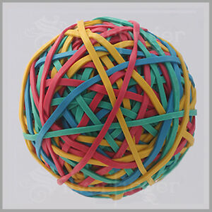240pc Rubber Band Balls Multicolor Rubberbands Ball School Office Hobby X1 3 5 7