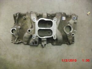 Chevy 305 327 And 350 Used Edlebrock Aluminum Intake Good Condition