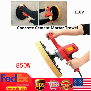 380mm Concrete Cement Mortar Trowel Wall Smoothing Polish Machine With 2 Plates