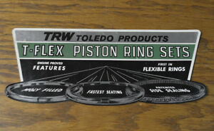 Large 10 Original Vintage Sticker Decal Trw Piston Rings Hot Rod Tool Box Auto