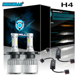 Ironwalls Hb2 9003 H4 Led Headlight Bulbs Canbus Decoder Anti flicker Resistor