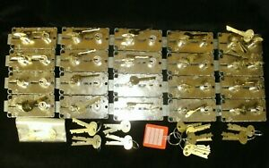 Lot Of 20 New Sargent 4500 Series Safe Deposit Locks W customer Guard Keys