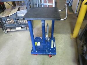 Vestil Ht 05 1818a Hydraulic Lift Table Load Cap 500 Lb presto Wesco lexco