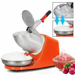 Electric Ice Crusher Shaver Machine 143lbs Snow Cone Maker Shaved Ice 300w