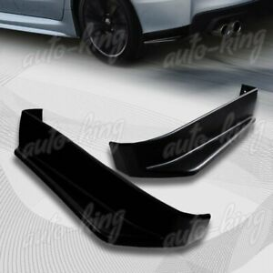 2pcs Black St Style Rear Bumper Aero Side Aprons Lip Fit 15 19 Subaru Wrx Sti