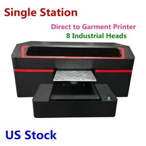 Usa Direct To Garment Printer With 8 Industrial Heads Dtg Single Station