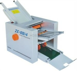 310 700 Mm Paper 4 Folding Plates Auto Folding Machine Ze 8b 4 Brand New Cv