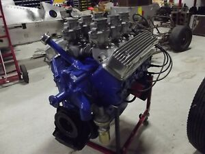 Ford 292 Y Block Engine 1955 Six Deuces Carbs Edelbrock Intake Hot Rat Rod V8