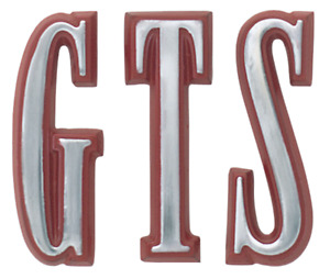 1968 Dart Gts Fender Letter Set Red Includes Mounting Hardware Made In Usa