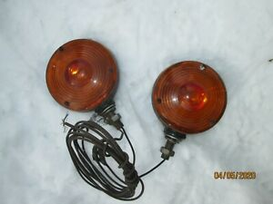 Vintage Signal Stat Cyclostat Stop Turn Signal Metal Light Lamp Truck Bus Auto