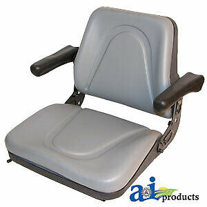 T500gy Universal Tractor Seat With Slide Tracks Kubota Ford Case Mf Jd